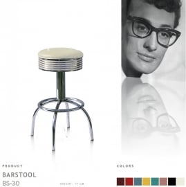 BS-30-77 Bel Air barstool - off white
