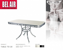 TO-20- Diner eettafel - Bel Air Antique white