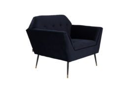 Kate Lounge Chair Deep Blue Dutchbone