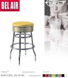 Bel Air BS-29 Fifties kruk Geel