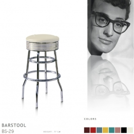 BS-29-77 Bel Air barstool - off white