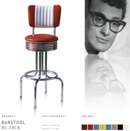 Bel Air barstool BS-28-77CB - ruby
