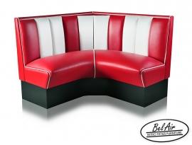 HW 120 Diner corner booth Red