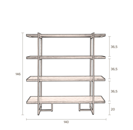 Dutchbone Class wandkast Shelf