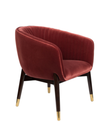 Dolly Lounge Chair Dutchbone Burgundy Red
