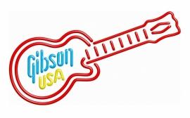 Neon Sign - Gibson USA Guitar