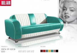Bel Air Retro Furniture lounge sofa / Turquoise
