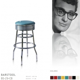 BS-29-77 Bel Air barstool - blue