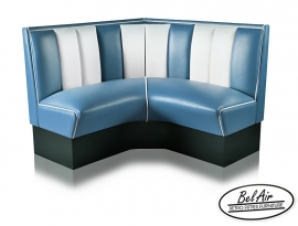 Diner corner booth Bel Air HW 120 Blue