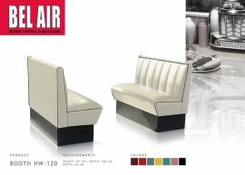 BELAIR  HW-120 Retro Diner booth / OFF WHITE / Black Striping