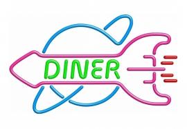 Neon reklame, Diner