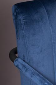 Stitched Stoel Dutchbone Navy Blue
