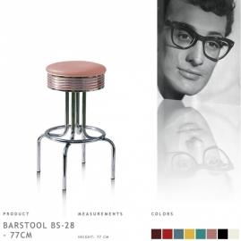BS-28-77 Bel Air - Fities rose barstool