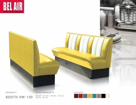 Vintage diner booth HW150 - Yellow