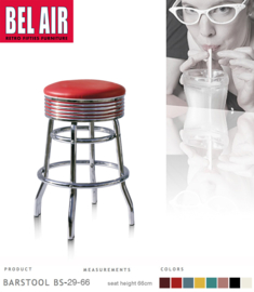 Bel Air BS-29 Fifties kruk Rood