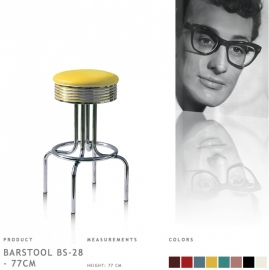 BS-28-77 Bel Air - Fities yellow barstool