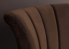 Flair classic lounge chair bruin fluweel