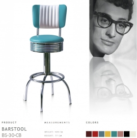 BS-30-77CB Bel Air barstool - turquoise