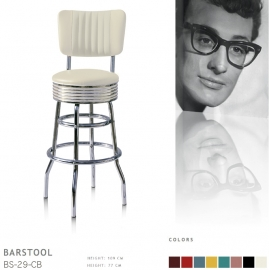 BS-29-77CB Bel Air barstool - off white