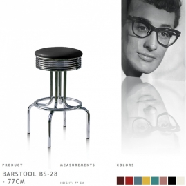 BS-28-77 Bel Air - Fities black barstool