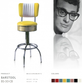 BS-30 CB Bel Air barstool - yellow