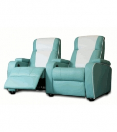 Home Cinema double chair Turquoise