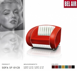 BEL AIR 50ies retro furniture SF-01-CB / Red