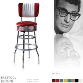 BS-29-77CB Bel Air barstool - ruby