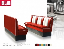 Amerikaanse Diner Booth HW 150 Red