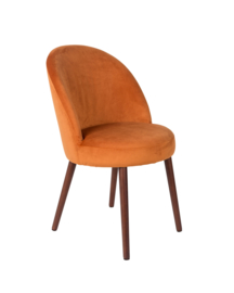 Barbara chair fluweel oranje