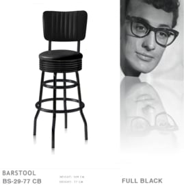 BS-29-77 CB Bel Air barstool Full Black