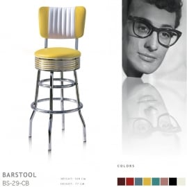 BS-29-77CB Bel Air barstool - yellow
