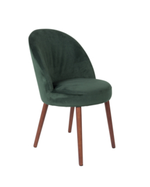Barbara chair fluweel groen