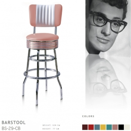 BS-29-77CB Bel Air barstool - dusty rose