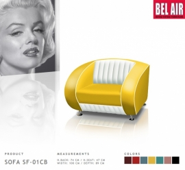 Bel Air SF-01CB retro fauteuil / Yellow