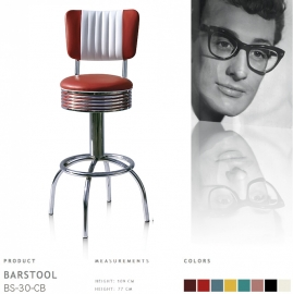 BS-30-CB77 Bel Air barstool - ruby