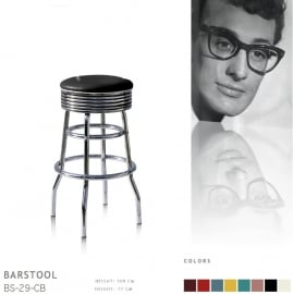 BS-29-77 Bel Air barstool - black