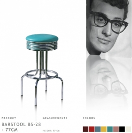 BS-28-77 Bel Air - Fities turqoise barstool