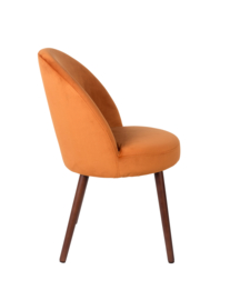 Barbara chair fluweel oranje