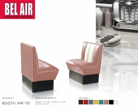 Bel Air HW-70 retro diner booth / Dusty Rose