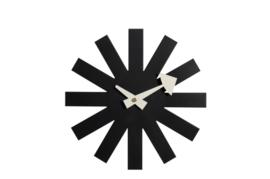 Asterisk-klok - zwart