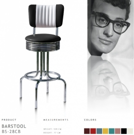 Bel Air barstool BS-28-77CB - black
