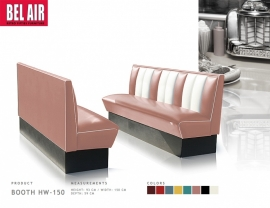 Amerikaanse Diner Booth HW-150 dusty rose