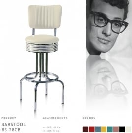 Bel Air barstool BS-28-77CB - off white