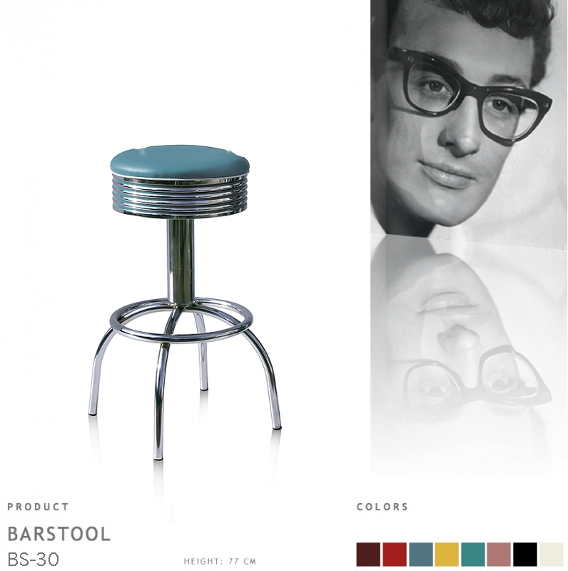 BS-30-77 Bel Air barstool - blue