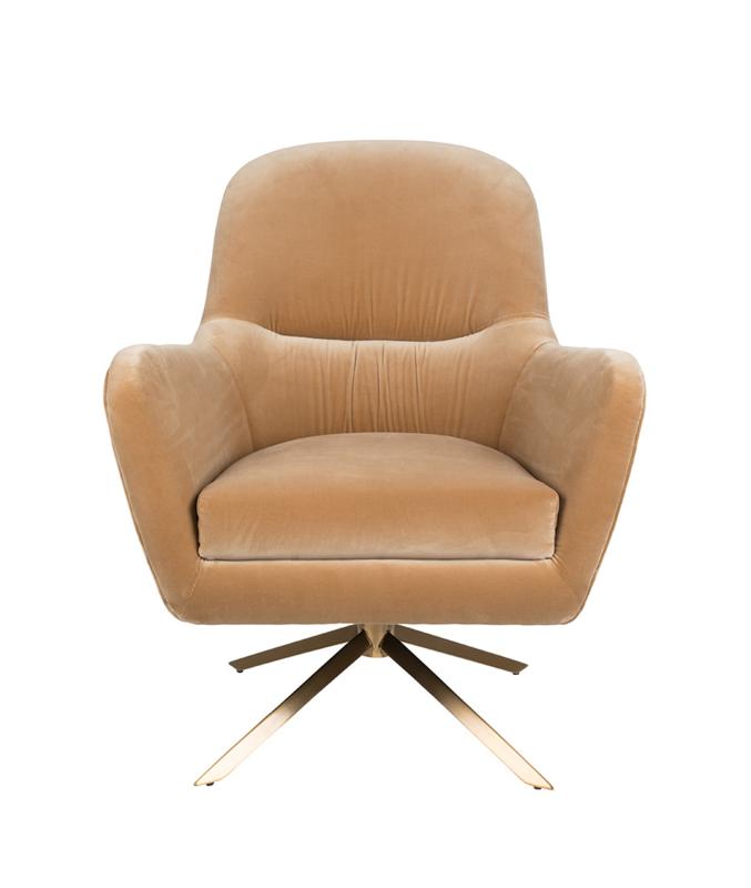 Robusto Lounge Chair Dutchbone Caramel