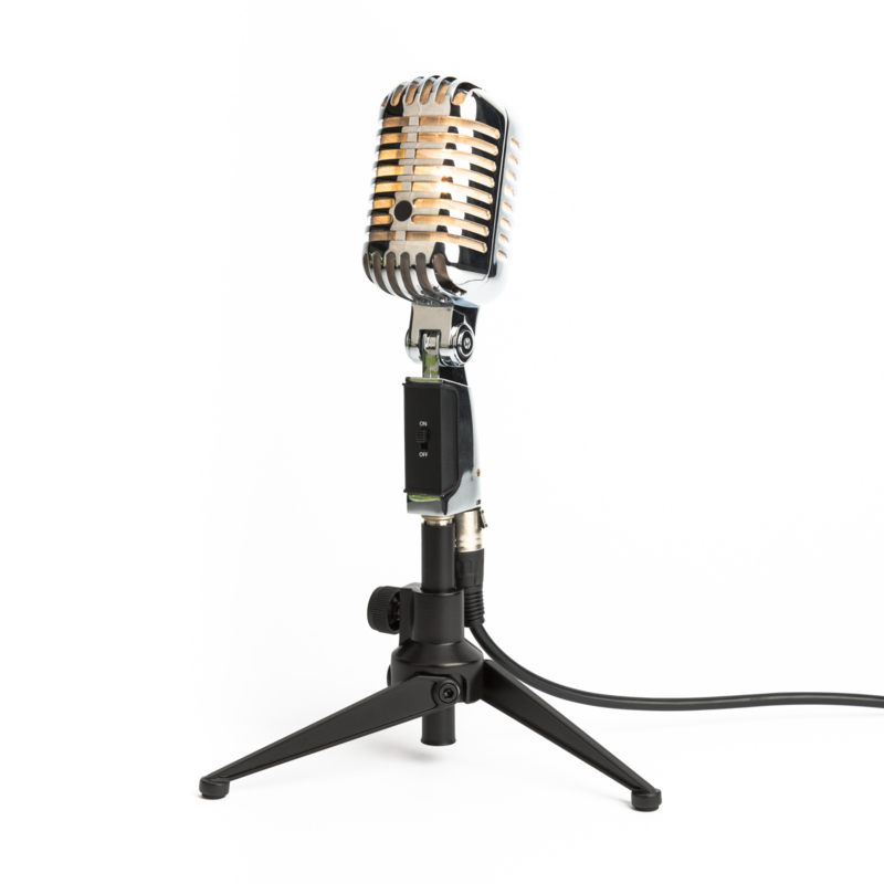 Microphone Stagg 1 Tafellamp Chrome