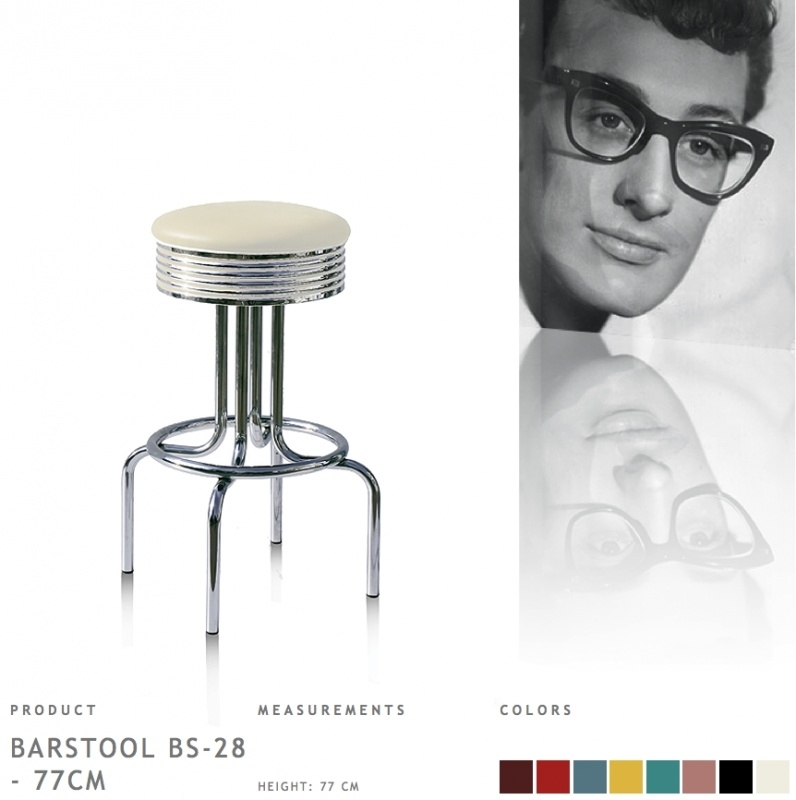 BS-28-77 Bel Air - Fities barstool off white