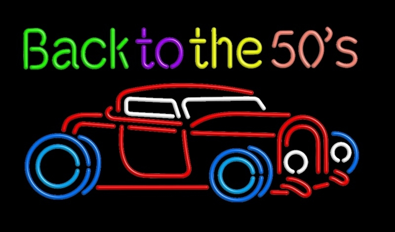 Neon verlichting Hot Rod - Back to the 50ies