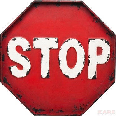 Stop metal sign board